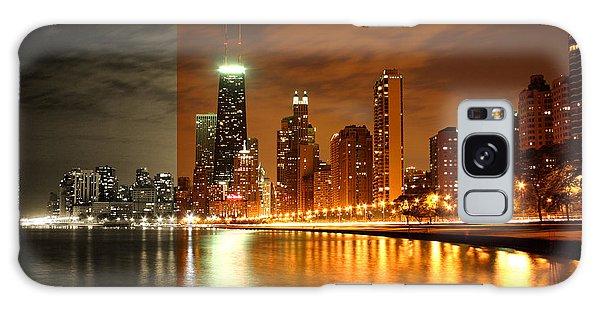 Chicago Skyline Night Amber Galaxy Case