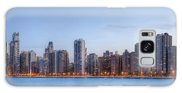 Chicago Skyline Night Panorama Galaxy Case by Shawn Everhart
