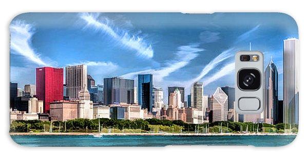 Chicago Skyline Panorama Galaxy Case