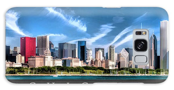Chicago Skyline Panorama Poster Galaxy Case