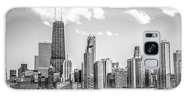 Chicago Skyline Picture In Black And White Galaxy Case
