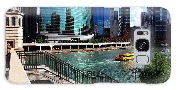 Chicago Skyline River Boat Galaxy Case