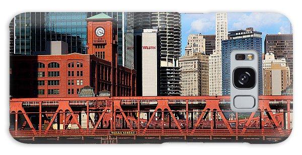 Chicago Skyline River Bridge Galaxy Case