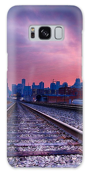 Chicago Skyline Sunrise December 1 2013 Galaxy Case