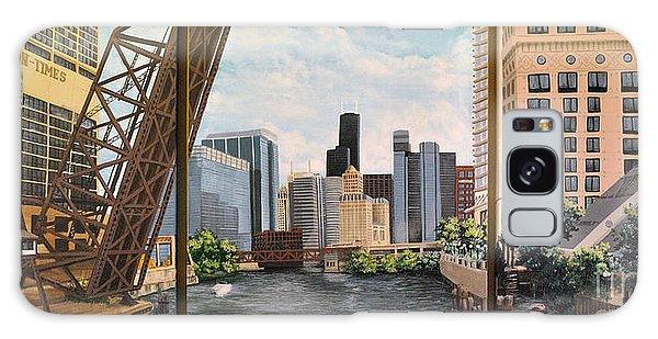 Chicago Skyline Triptych Galaxy Case