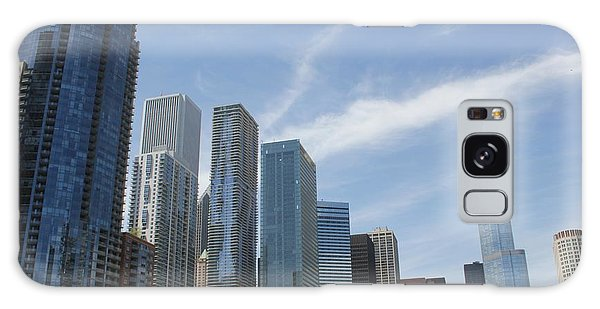Chicago Skyscrapers Galaxy Case by The Art of Alice Terrill