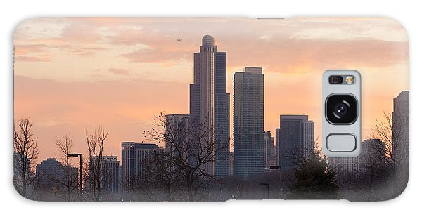 Chicago Skyscrapers In Sunset Galaxy Case