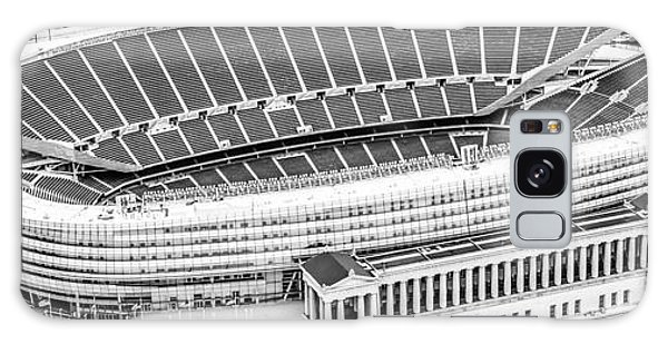 Chicago Soldier Field Aerial Panorama Photo Galaxy Case