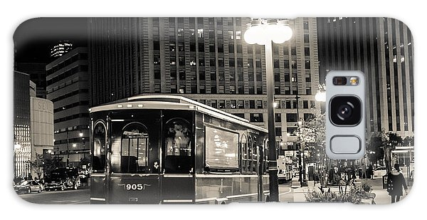 Chicago Trolly Stop Galaxy Case by Melinda Ledsome