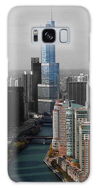 Chicago Trump Tower Blue Selective Coloring Galaxy Case by Thomas Woolworth