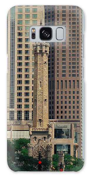 Chicago Water Tower Galaxy Case by Peg Urban