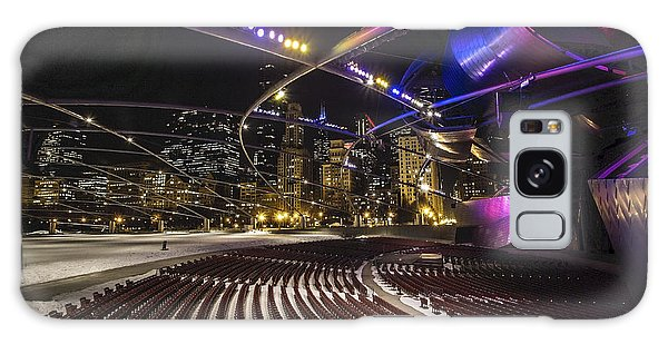 Chicago's Pritzker Pavillion With Colored Lights  Galaxy Case
