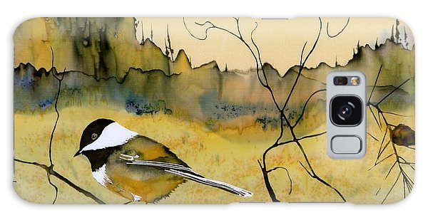Chickadee In Dancing Pine Galaxy Case