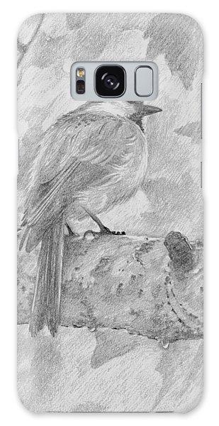 Chickadee In The Rain Galaxy Case