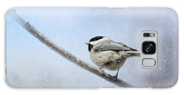 Chickadee In The Snow Galaxy Case