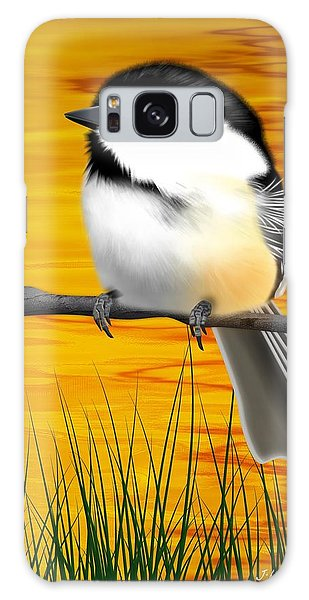 Chickadee On A Branch Galaxy Case
