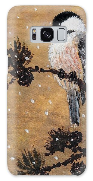 Chickadee Set 15 Bird 2 Detail Print Galaxy Case