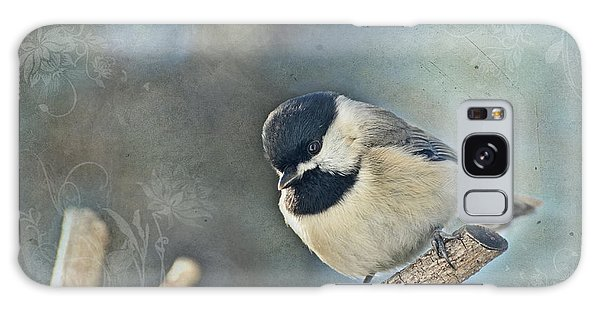 Chickadee With Texture Galaxy Case