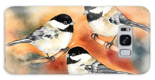 Chickadees Trio Galaxy Case