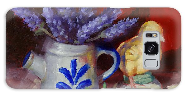 Chicken And Lavender Still Life Galaxy Case by Margaret Stockdale