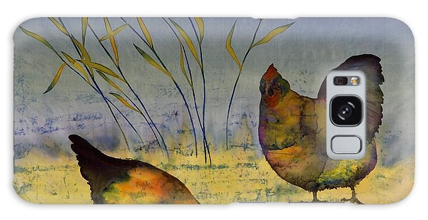 Chickens On Silk Galaxy Case