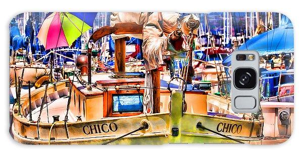 Chico Sail Boat By Diana Sainz Galaxy Case