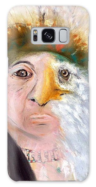 Chief Black Eagle Galaxy Case by Ayasha Loya