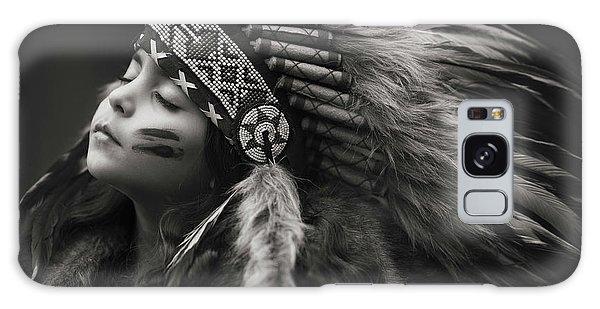 Native American Galaxy Case - Chief Of Her Dreams by Carmit Rozenzvig
