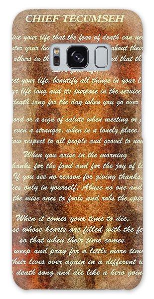 Chief Tecumseh Poem Galaxy Case by Dan Sproul