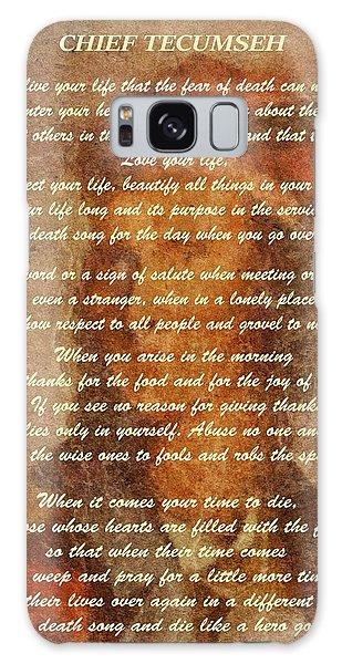 Chief Tecumseh Poem Galaxy Case