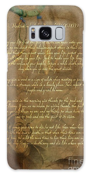 Chief Tecumseh Poem Galaxy Case