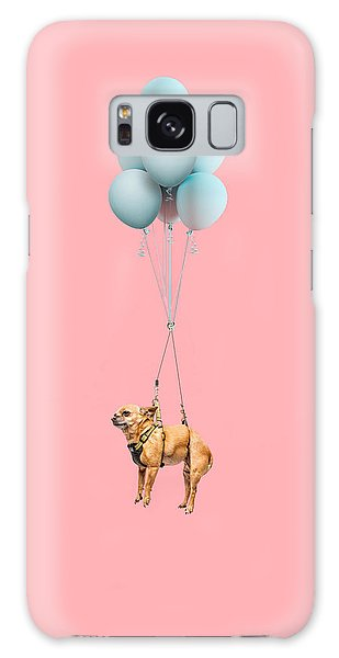Chihuahua Dog Floating With Balloons Galaxy Case