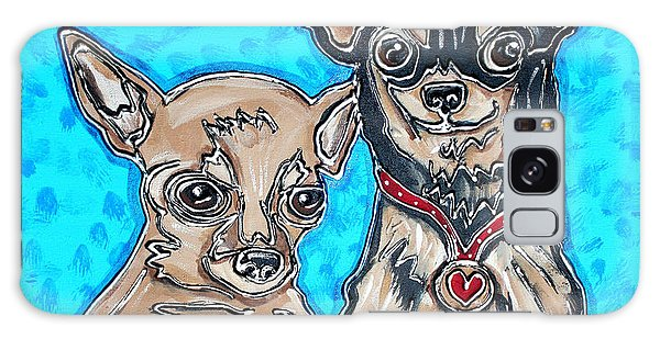 Chihuahua Duo Galaxy Case by Cynthia Snyder