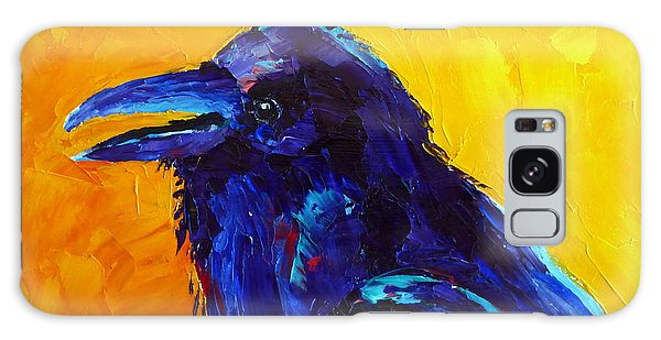 Chihuahuan Raven Galaxy Case by Susan Woodward