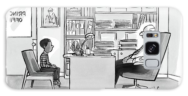 Child Sits Across Desk From Principal Galaxy Case