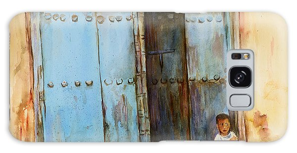 Child Sitting In Old Zanzibar Doorway Galaxy Case
