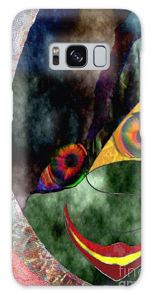 Child With Bright Shadow - Kind Mit Lichtem Schatten Galaxy Case by Mojo Mendiola