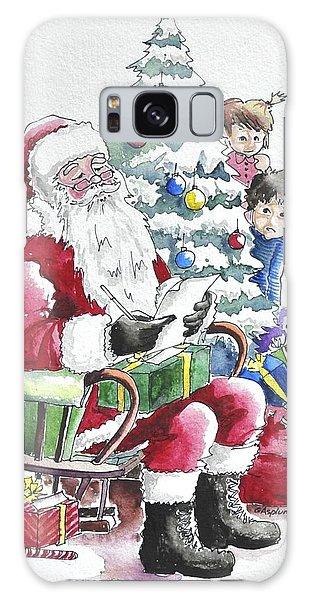 Childre Sneaking Around Santa Galaxy Case
