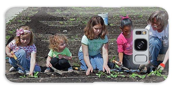 Children At Work In A Community Garden Galaxy Case