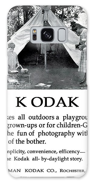 Children  Camping. Circa 1913. Galaxy Case