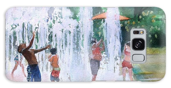 Children In Fountains II Galaxy Case by Gregory DeGroat