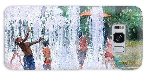 Children In Fountains II Galaxy Case