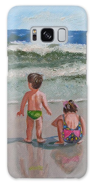 Children On The Beach Galaxy Case