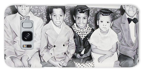 Children Sitting On Sofa Galaxy Case by Chelle Brantley