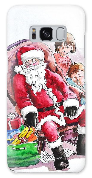 Children Patiently Waiting Up For Santa. Galaxy Case