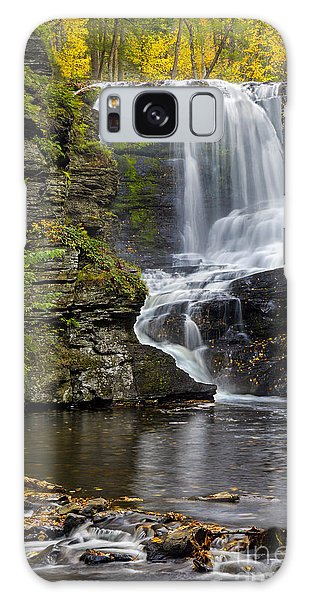 Childs Park Waterfall Galaxy Case by Susan Candelario