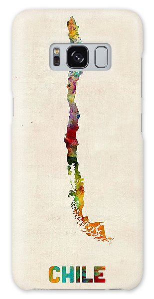 Chile Watercolor Map Galaxy Case