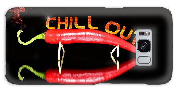 Chilli Pepper And Text Chill Out Galaxy Case