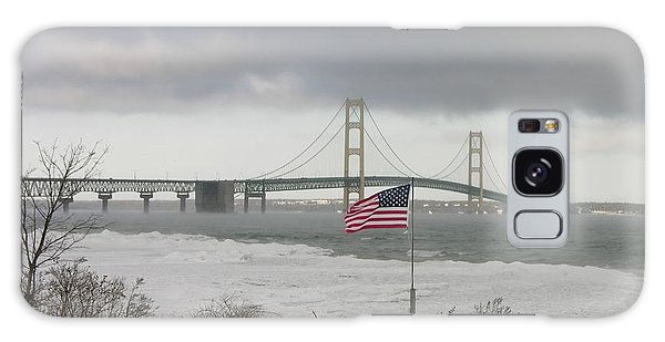 Chilly Mackinac Bridge Galaxy Case