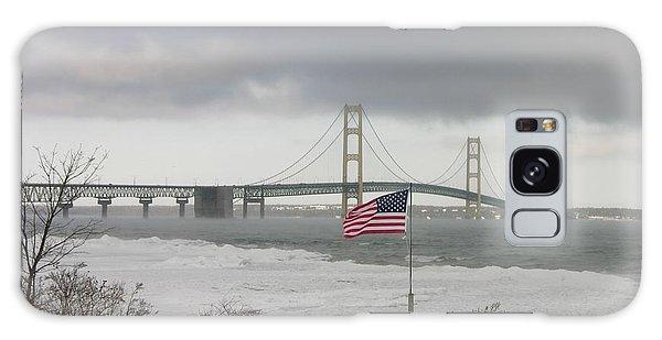 Chilly Mackinac Bridge Galaxy Case